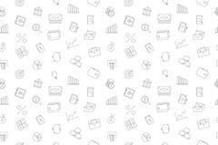Vector finance pattern. FInance seamless background. Vector illustration Royalty Free Stock Photos