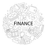 Vector Finance pattern with word. Finance background. Vector illustration Royalty Free Stock Photo