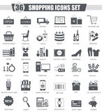 Vector finance Shopping e-commerce black icon set. Dark grey classic icon design for web. Royalty Free Stock Image
