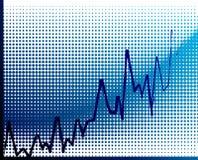 vector financiële grafiek Royalty-vrije Stock Afbeelding