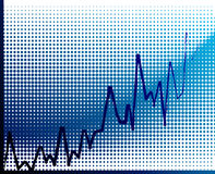 Vector financial graph Royalty Free Stock Image