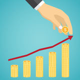 Vector financial growth concept. Royalty Free Stock Images