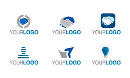 Vector financial trust logo set Stock Photo
