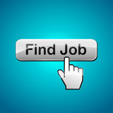 Vector find job illustration theme. Vector illustration of find job button concept Royalty Free Stock Photography