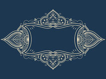 Vector fine floral frame. Decorative element for invitations and cards. Border element. Elegant frame for your design Royalty Free Stock Image