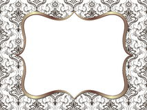 Vector fine floral square frame. Decorative element for invitations and cards. Stock Photo