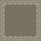 Vector fine floral square frame. Decorative element for invitations and cards. Border element.  Stock Photography
