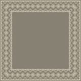Vector fine floral square frame. Decorative element for invitations and cards. Border element.  Stock Images
