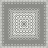 Vector fine floral square frame. Decorative element for invitations and cards. Border element.  Royalty Free Stock Photos
