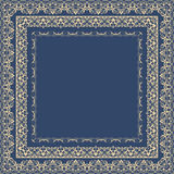 Vector fine floral square frame. Decorative element for invitations and cards. Border element Stock Photography