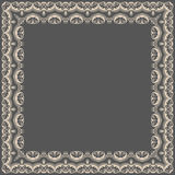 Vector fine floral square frame. Decorative element for invitations and cards. Border element Royalty Free Stock Images