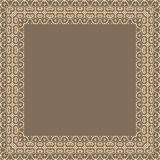 Vector fine floral square frame. Decorative element for invitations and cards. Border element Royalty Free Stock Photography