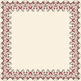 Vector fine floral square frame. Decorative element for invitations and cards. Border element Stock Images