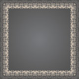 Vector fine floral square frame. Decorative element for invitations and cards. Border element Royalty Free Stock Photos