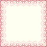 Vector fine floral square frame. Decorative element for invitations and cards. Border element Stock Image