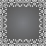 Vector fine floral square frame. Decorative element for invitations and cards. Border element Royalty Free Stock Image