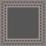 Vector fine floral square frame. Decorative element for invitations and cards. Border element Royalty Free Stock Photo