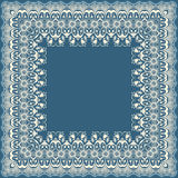 Vector fine floral square frame. Decorative element for invitations and cards. Border element Stock Photos