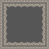 Vector fine floral square frame. Decorative element for invitations and cards. Border element Stock Photo