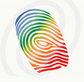 Vector finger print. Vector illustration of  finger print in various colors Stock Photos