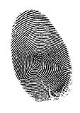 Vector fingerprint. Black and white Royalty Free Stock Photos