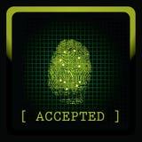 Vector fingerprint stock illustration