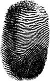 Vector fingerprint Royalty Free Stock Photos
