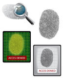Vector fingerprint and biometrics Stock Photo