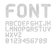 Vector fingerprint font. / alphabet on white background Stock Photo