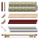 Vector Finishing Wall Materials Stock Images