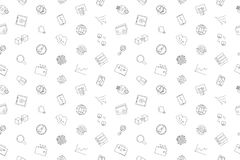 Vector Fintech pattern. Big Data seamless background Royalty Free Stock Image
