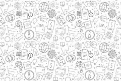 Vector Fintech pattern with word