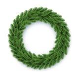 Vector fir wreath. Vector illustration of green christmas wreath Stock Photo
