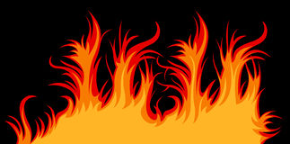 Vector fire Stock Photography