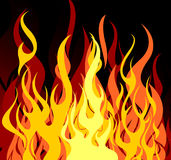Vector fire Stock Images