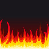 Vector fire background. Fire background. Vector illustration Stock Image