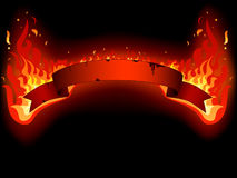 Vector of fire banner Royalty Free Stock Photography