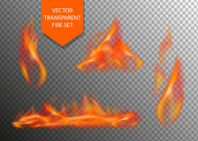 Vector realistic fire special effect elements Stock Photo