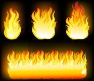 Vector  of Fire Elements. Vector Illustration of Fire Elements Stock Photos