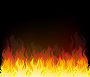 Vector  of Fire Elements Stock Image