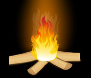 Vector  of Fire Elements Royalty Free Stock Image