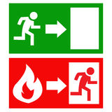 Vector fire exit signs. Stock vector picture - Vector fire exit signs Royalty Free Stock Photography
