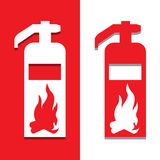 Vector fire extinguisher,Illustration EPS10. Great for any use Stock Image