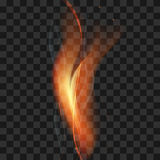 Vector fire flame smoke sparks on a transparent background.  Stock Images