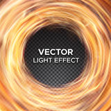 Vector fire flames on transparent background Royalty Free Stock Photo