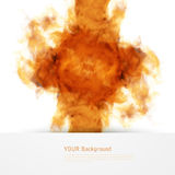 Vector fire. Floral Background with Smoke Stock Image