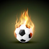 Vector fire football. Burning in fire football design Stock Images