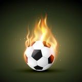 Vector fire football. Burning in fire football design stock illustration
