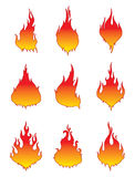 Vector Fire Icons Royalty Free Stock Photo