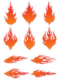 Vector Fire Icons Royalty Free Stock Image
